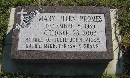 PROMES, MARY ELLEN - Cedar County, Nebraska | MARY ELLEN PROMES - Nebraska Gravestone Photos