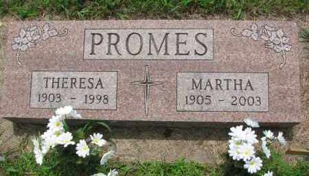 PROMES, MARTHA - Cedar County, Nebraska | MARTHA PROMES - Nebraska Gravestone Photos