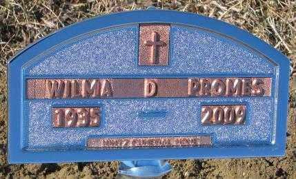 PROMES, WILMA D. - Cedar County, Nebraska | WILMA D. PROMES - Nebraska Gravestone Photos