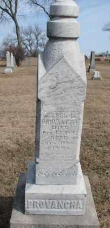 PROVANCHA, NELSON M. - Cedar County, Nebraska   NELSON M. PROVANCHA - Nebraska Gravestone Photos