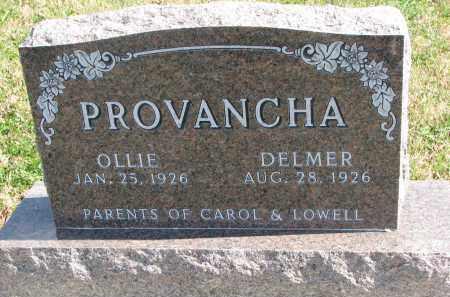 PROVANCHA, OLLIE - Cedar County, Nebraska | OLLIE PROVANCHA - Nebraska Gravestone Photos
