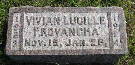 PROVANCHA, VIVIAN LUCILLE - Cedar County, Nebraska   VIVIAN LUCILLE PROVANCHA - Nebraska Gravestone Photos