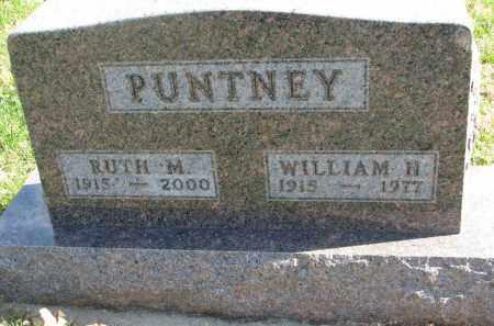 PUNTNEY, WILLIAM H. - Cedar County, Nebraska | WILLIAM H. PUNTNEY - Nebraska Gravestone Photos