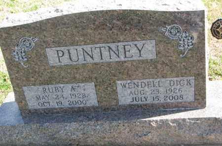 PUNTNEY, RUBY A. - Cedar County, Nebraska   RUBY A. PUNTNEY - Nebraska Gravestone Photos