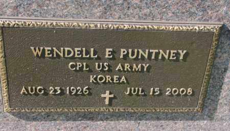 PUNTNEY, WENDELL E. (MILITARY) - Cedar County, Nebraska   WENDELL E. (MILITARY) PUNTNEY - Nebraska Gravestone Photos
