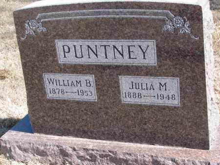 PUNTNEY, WILLIAM B. - Cedar County, Nebraska | WILLIAM B. PUNTNEY - Nebraska Gravestone Photos