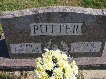 PUTTER, ERNEST - Cedar County, Nebraska | ERNEST PUTTER - Nebraska Gravestone Photos