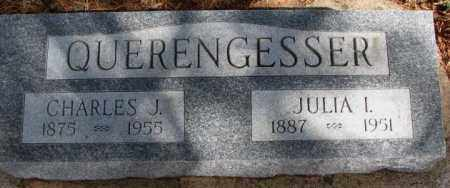 QUERENGESSER, JULIA I. - Cedar County, Nebraska | JULIA I. QUERENGESSER - Nebraska Gravestone Photos