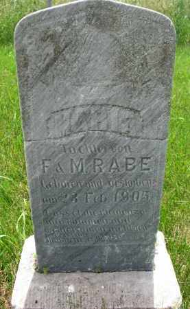 RABE, MARIA - Cedar County, Nebraska | MARIA RABE - Nebraska Gravestone Photos