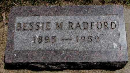 RADFORD, BESSIE M. - Cedar County, Nebraska | BESSIE M. RADFORD - Nebraska Gravestone Photos