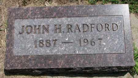 RADFORD, JOHN H. - Cedar County, Nebraska   JOHN H. RADFORD - Nebraska Gravestone Photos