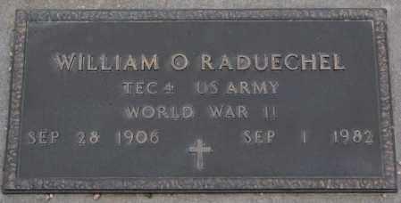 RADUECHEL, WILLIAM O. - Cedar County, Nebraska | WILLIAM O. RADUECHEL - Nebraska Gravestone Photos