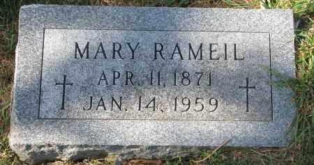 RAMEIL, MARY - Cedar County, Nebraska   MARY RAMEIL - Nebraska Gravestone Photos