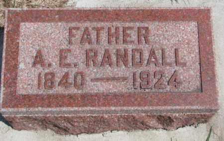 RANDALL, A.E. - Cedar County, Nebraska   A.E. RANDALL - Nebraska Gravestone Photos