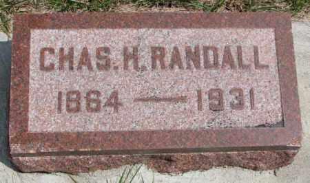 RANDALL, CHAS H. - Cedar County, Nebraska | CHAS H. RANDALL - Nebraska Gravestone Photos