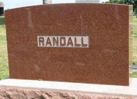 RANDALL, PLOT - Cedar County, Nebraska | PLOT RANDALL - Nebraska Gravestone Photos