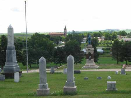 *RANDOLPH, VIEW FROM TOP - Cedar County, Nebraska | VIEW FROM TOP *RANDOLPH - Nebraska Gravestone Photos