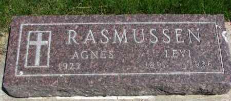RASMUSSEN, AGNES - Cedar County, Nebraska | AGNES RASMUSSEN - Nebraska Gravestone Photos