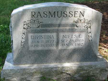 RASMUSSEN, CHRISTINA - Cedar County, Nebraska | CHRISTINA RASMUSSEN - Nebraska Gravestone Photos