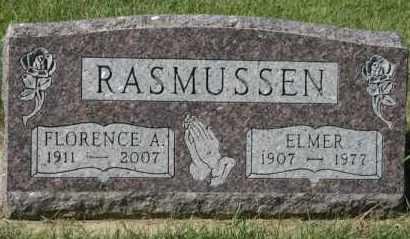 RASMUSSEN, FLORENCE A - Cedar County, Nebraska | FLORENCE A RASMUSSEN - Nebraska Gravestone Photos