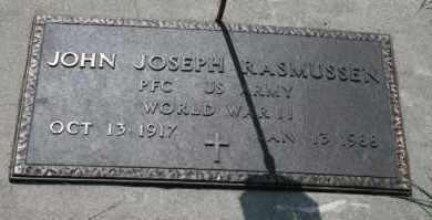 RASMUSSEN, JOHN JOSEPH - Cedar County, Nebraska   JOHN JOSEPH RASMUSSEN - Nebraska Gravestone Photos