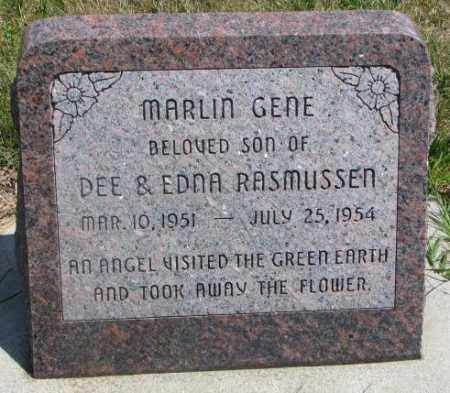 RASMUSSEN, MARLIN GENE - Cedar County, Nebraska | MARLIN GENE RASMUSSEN - Nebraska Gravestone Photos