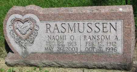 RASMUSSEN, NAOMI O. - Cedar County, Nebraska   NAOMI O. RASMUSSEN - Nebraska Gravestone Photos