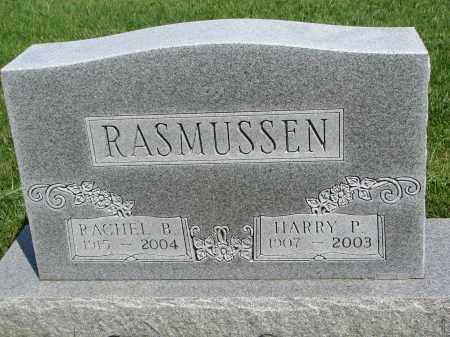 RASMUSSEN, RACHEL B. - Cedar County, Nebraska | RACHEL B. RASMUSSEN - Nebraska Gravestone Photos