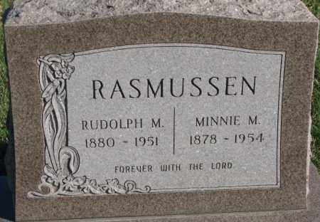 RASMUSSEN, MINNIE M. - Cedar County, Nebraska | MINNIE M. RASMUSSEN - Nebraska Gravestone Photos