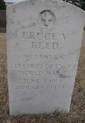 REED, BRUCE V. - Cedar County, Nebraska   BRUCE V. REED - Nebraska Gravestone Photos