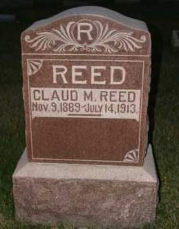 REED, CLAUD M - Cedar County, Nebraska | CLAUD M REED - Nebraska Gravestone Photos