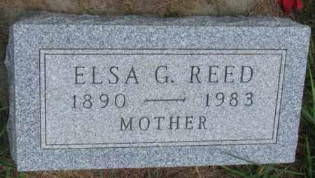 REED, ELSA G. - Cedar County, Nebraska | ELSA G. REED - Nebraska Gravestone Photos
