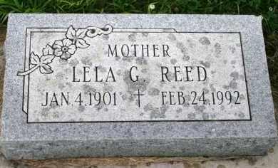 REED, LELA G - Cedar County, Nebraska   LELA G REED - Nebraska Gravestone Photos
