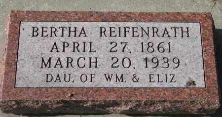 REIFENRATH, BERTHA - Cedar County, Nebraska | BERTHA REIFENRATH - Nebraska Gravestone Photos