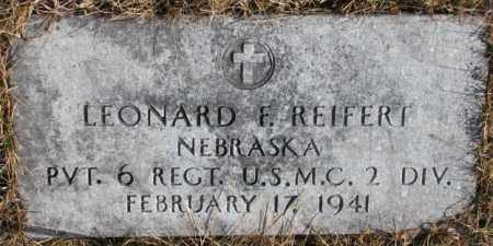 REIFERT, LEONARD F. - Cedar County, Nebraska | LEONARD F. REIFERT - Nebraska Gravestone Photos
