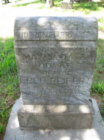 DOMKE REIFERT, MATHILDA E. - Cedar County, Nebraska | MATHILDA E. DOMKE REIFERT - Nebraska Gravestone Photos