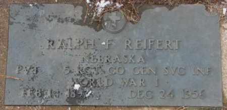 REIFERT, RALPH F. - Cedar County, Nebraska | RALPH F. REIFERT - Nebraska Gravestone Photos