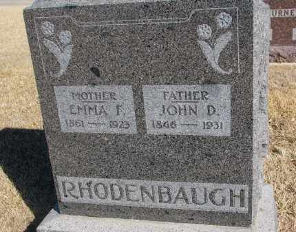 RHODENBAUGH, JOHN D. - Cedar County, Nebraska | JOHN D. RHODENBAUGH - Nebraska Gravestone Photos