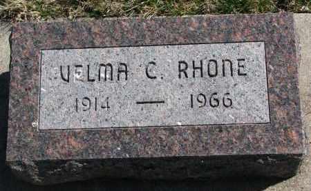 RHONE, VELMA C. - Cedar County, Nebraska | VELMA C. RHONE - Nebraska Gravestone Photos