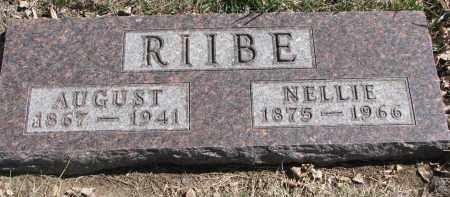 RIIBE, AUGUST - Cedar County, Nebraska | AUGUST RIIBE - Nebraska Gravestone Photos