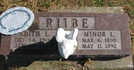 RIIBE, EDITH L. - Cedar County, Nebraska | EDITH L. RIIBE - Nebraska Gravestone Photos