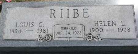 RIIBE, HELEN L. - Cedar County, Nebraska   HELEN L. RIIBE - Nebraska Gravestone Photos