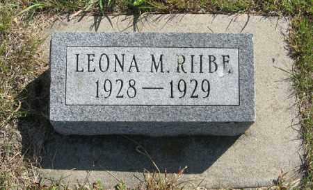 RIIBE, LEONA M. - Cedar County, Nebraska   LEONA M. RIIBE - Nebraska Gravestone Photos