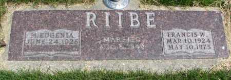 RIIBE, FRANCIS W. - Cedar County, Nebraska | FRANCIS W. RIIBE - Nebraska Gravestone Photos
