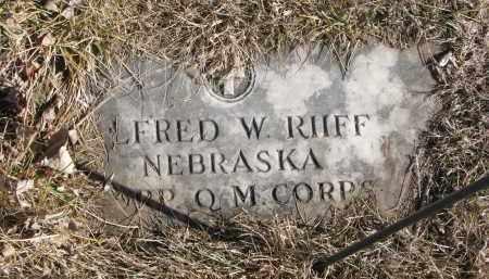 RIIFF, ALFRED W. - Cedar County, Nebraska   ALFRED W. RIIFF - Nebraska Gravestone Photos
