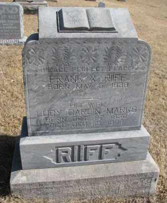 RIIFF, FRANK X. - Cedar County, Nebraska | FRANK X. RIIFF - Nebraska Gravestone Photos