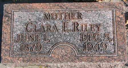 RILEY, CLARA E. - Cedar County, Nebraska | CLARA E. RILEY - Nebraska Gravestone Photos