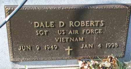ROBERTS, DALE D. (MILITARY) - Cedar County, Nebraska | DALE D. (MILITARY) ROBERTS - Nebraska Gravestone Photos