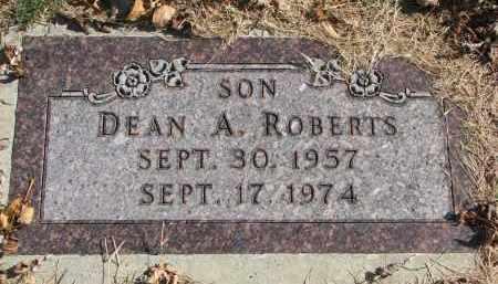 ROBERTS, DEAN A. - Cedar County, Nebraska | DEAN A. ROBERTS - Nebraska Gravestone Photos