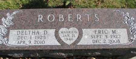 ROBERTS, ERIC M. - Cedar County, Nebraska | ERIC M. ROBERTS - Nebraska Gravestone Photos